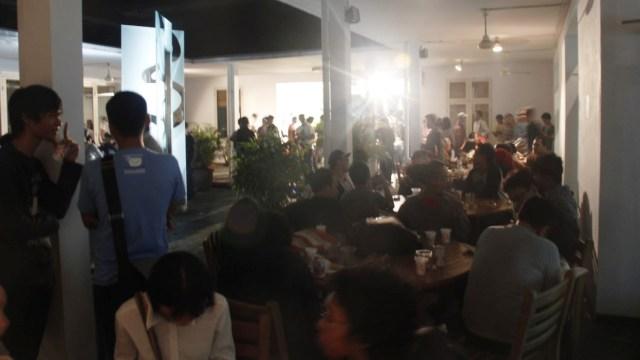 Keriuhan ramah tamah festival di GoetheHaus