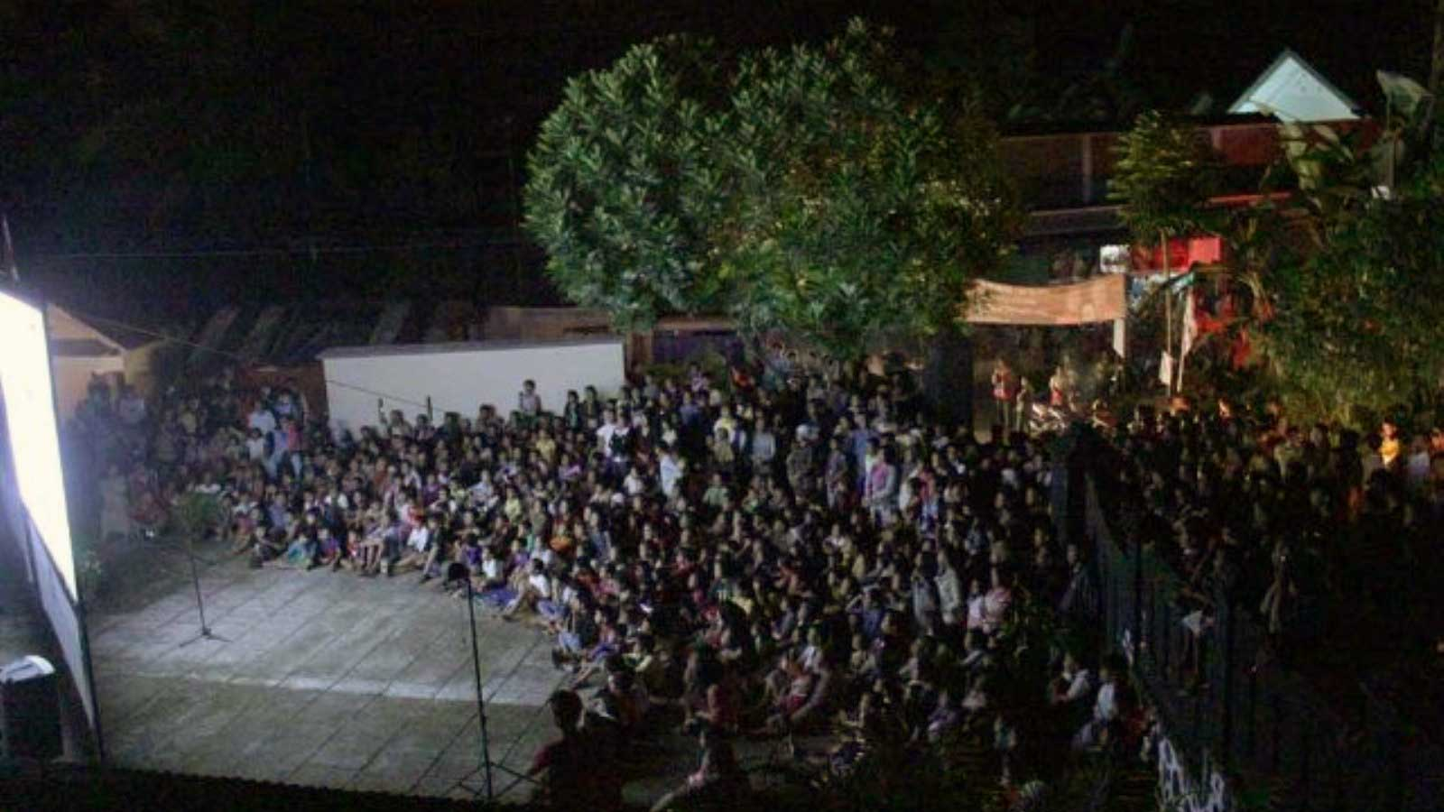 Suasana pemutaran Festival Film Purbalingga 2013 (dokumentasi penyelenggara festival)